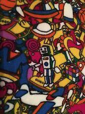 LulaRoe OS Toy Leggings BNWT HTF Unicorn Robots Bears Rubic's Cube Yellow Sub