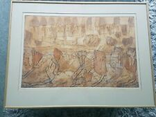 SIGNED Framed Ltd Ed 3/25 Etching / Print, Where The Muntjac Slept, E Lovejoy 91
