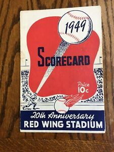 1949 Rochester Red Wings vs New Jersey Giants Baseball Program