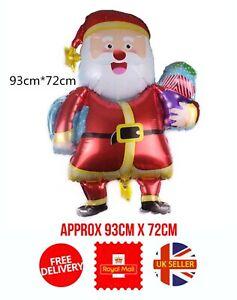 Father Christmas Xmas Santa Claus Helium Balloon Party Balloons UK Seller