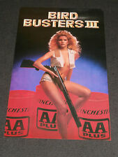 Winchester AA Ammo BIRD BUSTERS III Advertising Vintage Poster Trapshooting