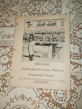 1964 FRIGIDAIRE TECH TALK 1951-1963 AIR COOLED ICE CUBE MAKERS
