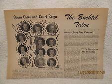 May 1952 Buchtel High School Newspaper Talon Akron Ohio Queen & Court Photo