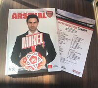 Arsenal v Chelsea, Programme & Team Sheet, 29th December 2019, 29.12.19, MINT