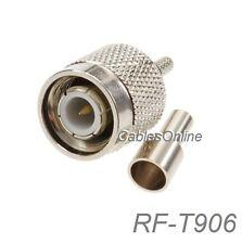 TNC Male Crimp Type w/ Solder-window RF Connector for RG316/RG174/LMR100 Coax