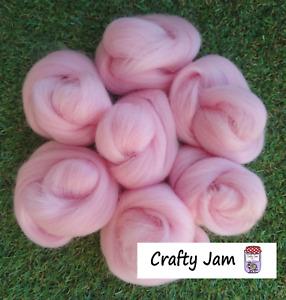 Needle Felting Perfectly Pink Corriedale/Merino. Felting Wool Rovings 45g