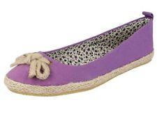 Calzado de mujer morado lona Talla 37.5