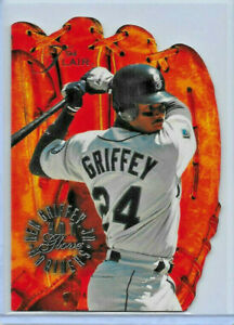1994 FLAIR BASEBALL #3 KEN GRIFFEY JR. HOT GLOVE DIE CUT INSERT CARD SUPER RARE