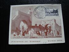 TUNISIE - carte 1er jour 8/3/1952 (journee du timbre) (cy54) tunisia