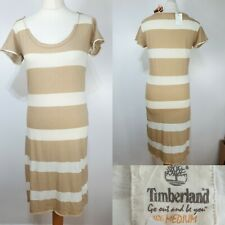 Timberland Beige Cream Stripe T-Shirt Tunic Dress Size 10 BNWT RRP £45 Casual