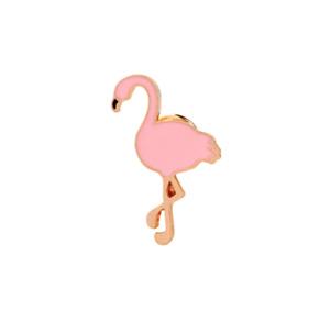 Flamingo enamel animal pin. Badge/Brooch. Vintage/boho/90s/blogger Accessory