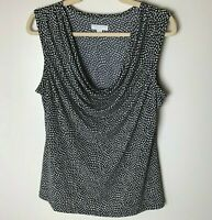 Charter Club Women's Sleeveless Top Size OX Cowl Neck Casual Work Career