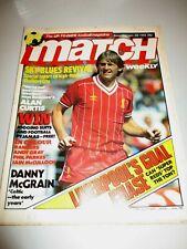 Match Weekly Football Magazine Jan 22nd 1983/Liverpool/Rangers/West Ham/Barnsley