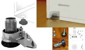 4 x Adjustable Furniture Table Glide Levelling Feet For Aligning Heavy Furniture