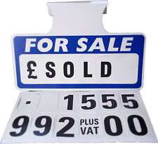 10 x For Sale Sign Board, Car Price/Pricing Sun Visor, Vehicle/Auto Price Unit