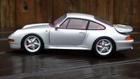RARE Vintage UT Models 1:18 Porsche 911 993 TURBO 1995 Silver Red Int Toy Car