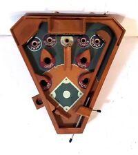 Hand Crafted Wood Pin Ball Mechanical Baseball Game