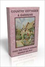 Country Cottages & Gardens - over 360 full-colour public domain images on DVD