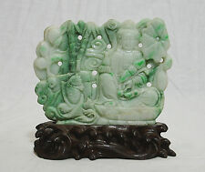 Nice  Hand  Carved  Chinese  Jadeite  Table  Ornament