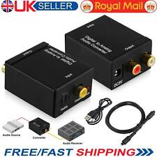 Digital to Analog Audio Converter Optical Cable Coaxial Toslink SPDIF RCA R/L UK