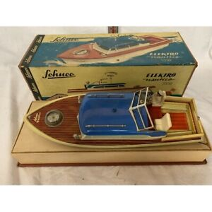 Vintage Schuco Elektro Nautico 5550 model boat with original box