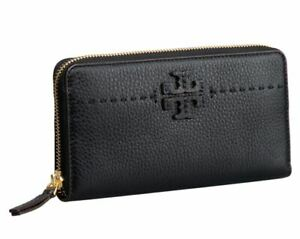 Tory Burch McGraw Continental Zip Around Wallet Saffiano Leather