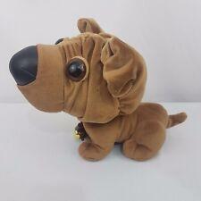 Snubbies Dog w Puppy inside Collar Ears Move Big Eyes Schlupy Plush Toy Quest
