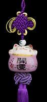 Sospensione Maneki Neko-Gatto Giapponese- Porta Felicità-grande Modello -532-SD3