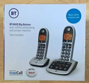 BT 4600 Cordless Phone with Answering Machine, Twin Handsets