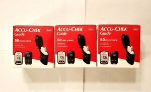 New Retail Accu-Chek Guide Diabetic Test Strips 150 Count Exp 09/21/2022