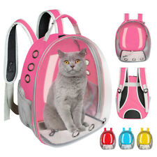 Pet Small Dog Cat Carrier Backpack Breathable Capsule Astronaut Travel Bag Pink