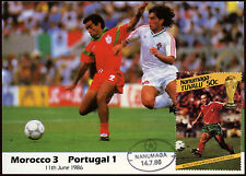 Football Maxicard 1986, Morocco V Portugal, Handstamped #C26419