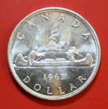 """Canada-Kanada 1 Dollar 1962 Silber Coin KM# 54 """"UNC""""  #F2895 Kanu-Indianer"""
