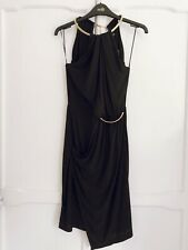 BNWT River Island Black Chain Neck Detail Grecian Cocktail Party Dress Size 10