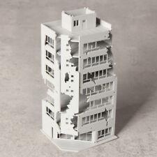 N Scale 1/144 White Damaged Ruined Building after War GUNDAM Scene 6.7*6.9*15cm