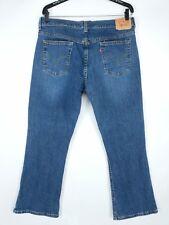Levis 515 womens size 12S bootcut blue denim jeans medium wash distressed A25-9