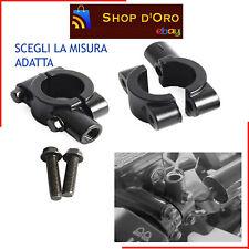 Supporti attacchi cavallotti morsetti manubrio 22mm per specchietti M8 - m10