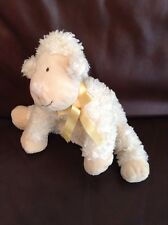 "Marks And Spencer Cream Lamb Sheep 10"" Teddy Baby comforter soft toy M&S"