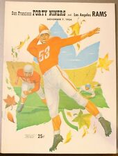 1954 San Francisco 49ers Los Angeles Rams Program Elroy Hirsch