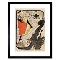 GARDENS PARIS JANE AVRIL TOULOUSE LAUTREC FRANCE VINTAGE POSTER PRINT 924PYLV