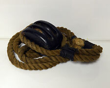 Antique Block and Tackle Nautical with Rope Wood Rollers!