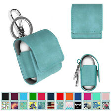 For Apple Airpods Charging Case Leather Protective Cover Skin with Keychain