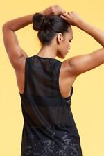 Marika Mesh Back Athletic Tank Top Workout Top Black Sz Medium KLTO123T NWT