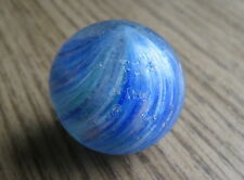 """Antique Blue Swirl Marble Hand Blown 1 1/8"""" in Diameter"""