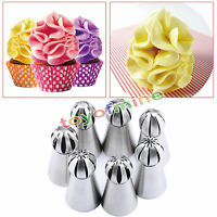 6pcs Sphere Ball Tip Nozzles Icing Piping Nozzle For Cake Baking