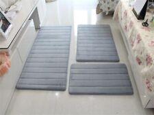 3pc Bath Mats Set Non-slip Bathroom Shower Carpet Soft Rug Absorbent Living room