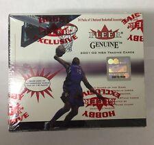 2001-02 Fleer Genuine Basketball Hobby Box Factory Sealed