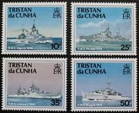 Ships of the Royal Navy, 3rd series stamps 1994 Tristan da Cu. Ref: 565-568, MNH