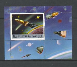 Fujeira 1972 Mi block 103A  Space Exploration MNH