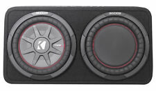 "Kicker 43TCWRT102 10"" Shallow Car Subwoofer In Slim Sub Box+Passive Radiator"